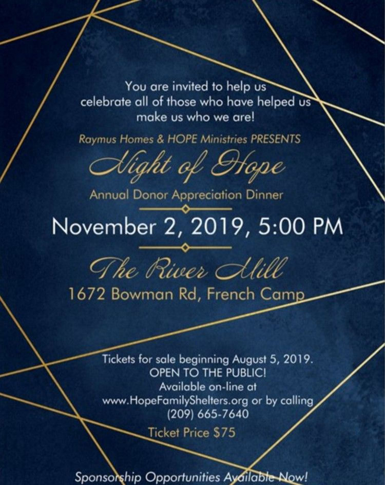 Night of Hope Annual Donor Appreciation Dinner 2019